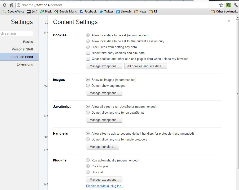 chrome content settings – Survival Guide For Small Business