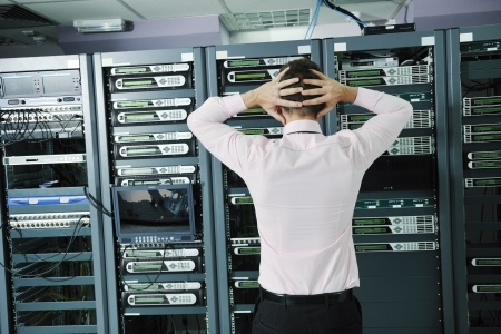 server room technician distress